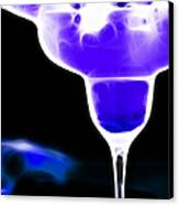 Midnight Blue Margarita Breeze Canvas Print