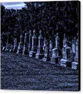 Midnight In The Garden Of Stones Canvas Print by Thomas Woolworth