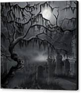 Midnight In The Graveyard  Canvas Print