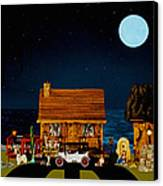 Midnight Near The Sea In Color Canvas Print by Leslie Crotty