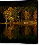 Midnight On The Lake Canvas Print by Linda Unger