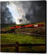 Midnight Train - 5d21043 Canvas Print by Wingsdomain Art and Photography