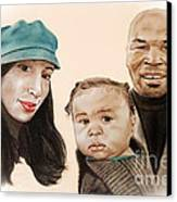 Mike Tyson And Family Altered Version From The One I Gave Him Canvas Print by Jim Fitzpatrick