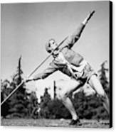 Mildred Babe Didrikson Holding A Javelin Canvas Print