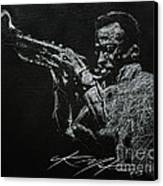 Miles Canvas Print by Chris Mackie