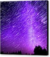 Milky Way And Star Trails Canvas Print by Aaron Priest