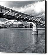 Millennium Foot Bridge - London Canvas Print