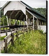 Millers Run Covered Bridge Canvas Print by Edward Fielding