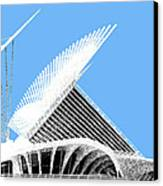 Milwaukee Skyline Art Museum - Light Blue Canvas Print by DB Artist
