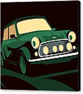 Mini Cooper Green Canvas Print