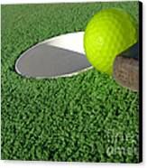 Miniature Golf Canvas Print by Olivier Le Queinec