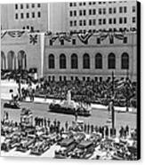 Miniature La City Hall Parade Canvas Print