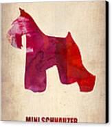Miniature Schnauzer Poster Canvas Print by Naxart Studio