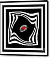 Minimalist Art Black White Red No.17 Canvas Print by Drinka Mercep