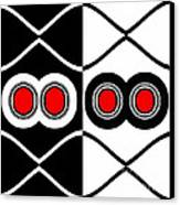Minimalism Geometric Art Black White Red Abstract Print No.83. Canvas Print by Drinka Mercep