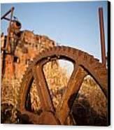 Mining Artefacts Historical Antique Machinery Canvas Print by Dirk Ercken