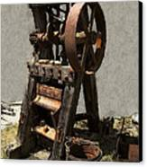 Mining Portable Stamp Mill Canvas Print by Daniel Hagerman