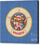 Minnesota State Flag Canvas Print by Pixel Chimp
