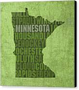Minnesota Word Art State Map On Canvas Canvas Print