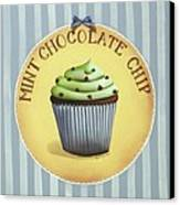 Mint Chocolate Chip Cupcake Canvas Print by Catherine Holman