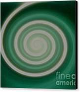 Mint Green Swirl Canvas Print
