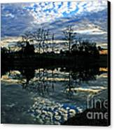 Mirror Image Clouds Canvas Print by Jinx Farmer