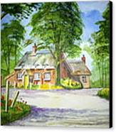 Miss Marples Cottage  St Mary-meade Canvas Print by Ian Scott-Taylor