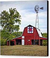 Missouri Star Quilt Barn Canvas Print by Cricket Hackmann