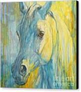 Misterious Blues Canvas Print by Silvana Gabudean Dobre