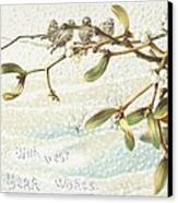 Mistletoe In The Snow Canvas Print by English School