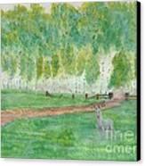Mist's Guardian Canvas Print by Robert Meszaros