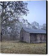 Misty Barn Canvas Print by Steve Caldwell