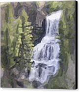 Misty Falls Canvas Print by Jo-Anne Gazo-McKim