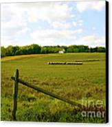 Misty Hills Farm Canvas Print by Addie Hocynec
