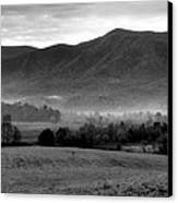 Misty Mountain Morning Canvas Print by Dan Sproul
