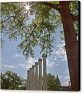 Mizzou Columns Sunflare Canvas Print by Kay Pickens