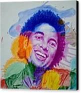Mj Color Splatter Canvas Print by Sruthi Murali