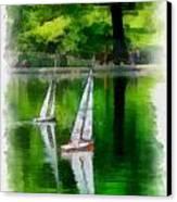 Model Boat Basin Central Park Canvas Print