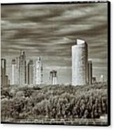 Modern Buenos Aires Black And White Canvas Print by For Ninety One Days