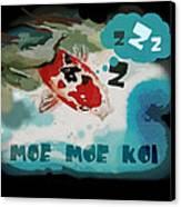 Moe Moe Koi Canvas Print by Wendy Wiese