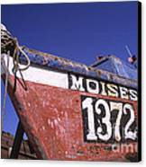 Moises The Fishing Boat Canvas Print