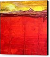 Mojave Dawn Original Painting Canvas Print