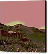 Mojave Desert In Mauve Canvas Print by Sharon McLain