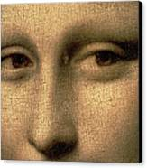 Mona Lisa    Detail Canvas Print by Leonardo Da Vinci