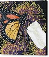 Monarch Butterfly On White Tulip Canvas Print by Lynda K Boardman