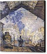 Monet, Claude 1840-1926. The Gare St Canvas Print by Everett