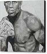 Money Mayweather Canvas Print by Aaron Balderas
