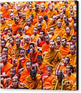 Monk Mass Alms Giving Canvas Print by Fototrav Print