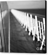 Monochrome Sun Deck Canvas Print by Anne Gilbert