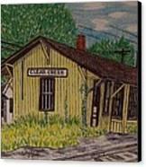 Monon Clear Creek Indiana Train Depot Canvas Print